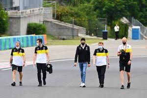 Esteban Ocon, Renault F1, walks the circuit