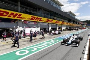 George Russell, Williams FW43 and Sergio Perez, Racing Point RP20
