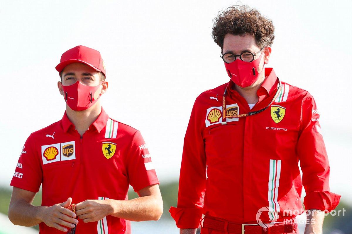 Charles Leclerc, Ferrari e Mattia Binotto, Team Principal Ferrari