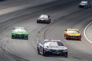 Denny Hamlin, Joe Gibbs Racing, Toyota Camry FedEx Office, Kyle Busch, Joe Gibbs Racing, Toyota Camry Interstate Batteries, Erik Jones, Joe Gibbs Racing, Toyota Camry Craftsman