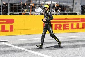 Эстебан Окон, Renault F1, на стартовой решетке