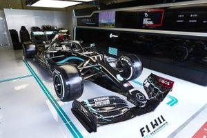 La voiture de Valtteri Bottas, Mercedes F1 W11 EQ Performance