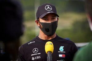 Lewis Hamilton, Mercedes AMG F1 parla ai media