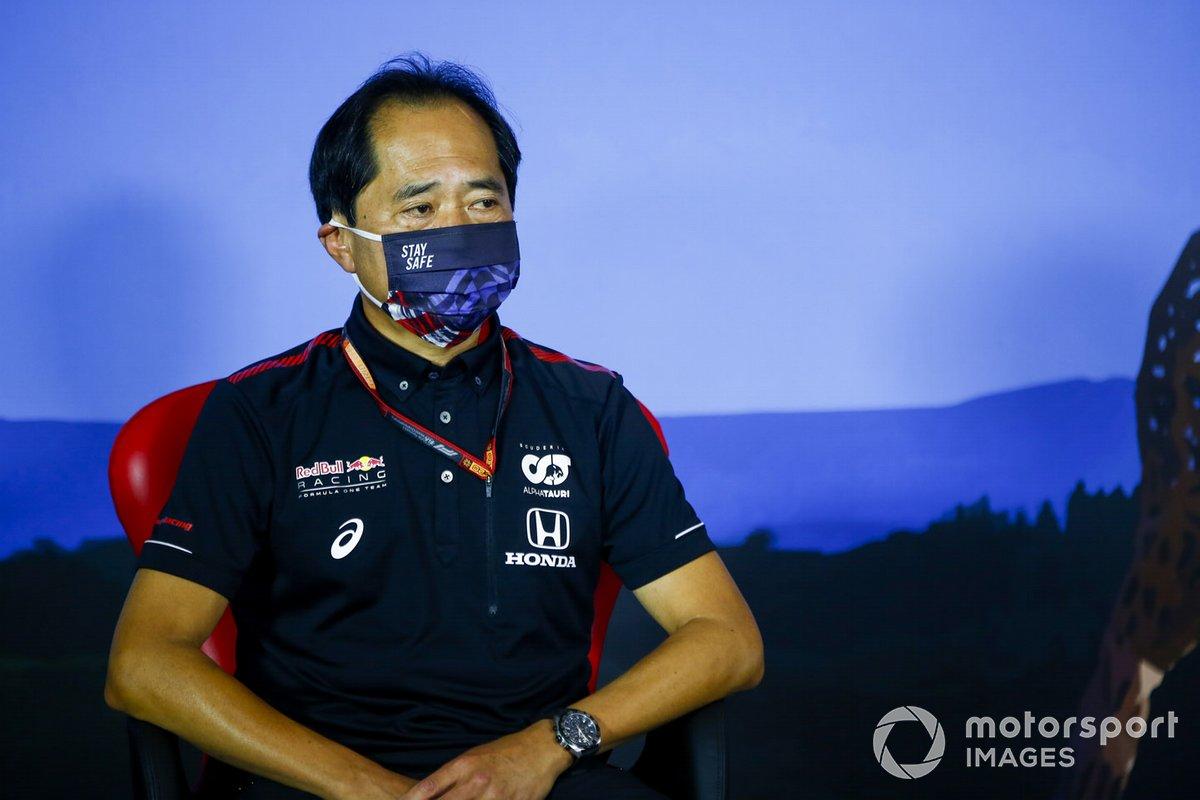 Toyoharu Tanabe, Director Técnico de F1 Honda en la conferencia de prensa