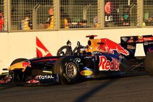 Race winner Sebastian Vettel, Red Bull Racing RB7