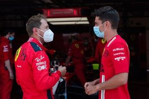 Sebastian Vettel, Ferrari and Charles Leclerc, Ferrari