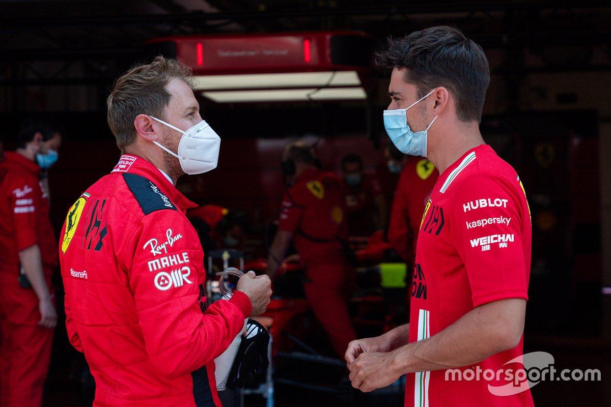 Sebastian Vettel, Ferrari e Charles Leclerc, Ferrari