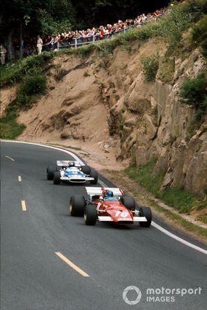 Jacky Ickx, Ferrari 312B, leads Jean-Pierre Beltoise, Matra MS120