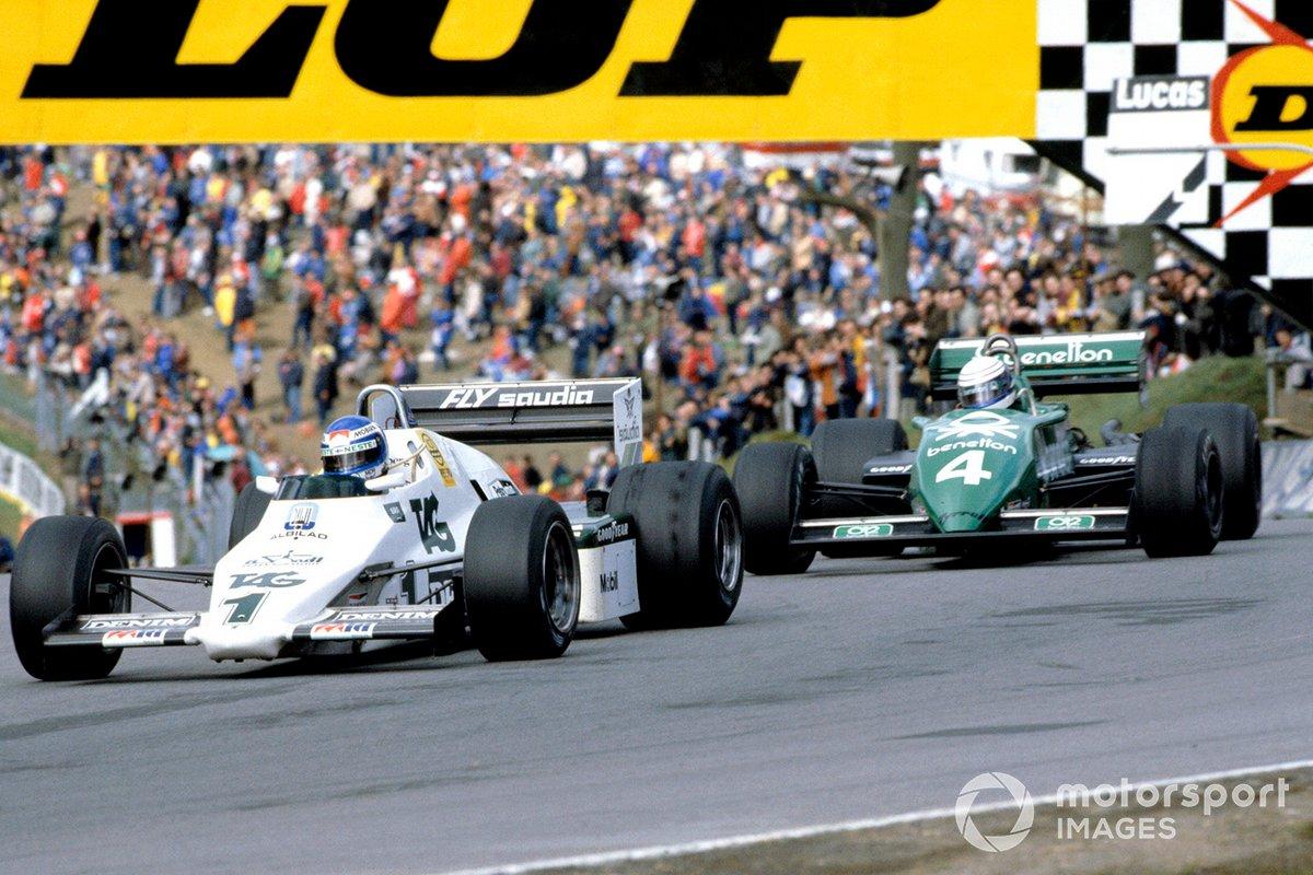 Keke Rosberg, Williams FW08C Ford, Danny Sullivan, Tyrrell 011 Ford