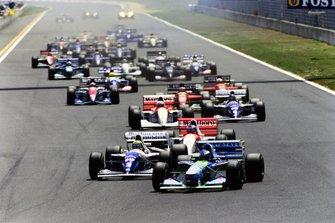 Михаэль Шумахер, Benetton B194 Ford, Айртон Сенна, Williams FW16 Renault, Мика Хаккинен, McLaren MP4-9 Peugeot, Мартин Брандл, McLaren MP4-9 Peugeot, Дэймон Хилл, Williams FW16 Renault