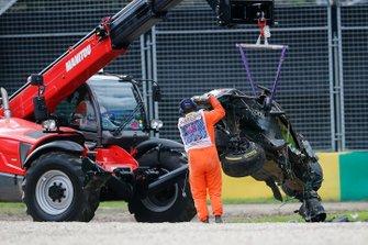 El monoplaza accidentado de Fernando Alonso, McLaren MP4-31
