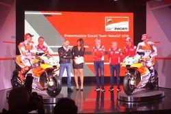 Claudio Domenicali, CEO Ducati, Davide Tardozzi, Team Manager Ducati e Paolo Ciabatti, Direttore Spo
