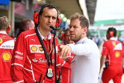 Riccardo Adami, Ferrari Race Engineer en Sebastian Vettel, Ferrari