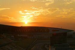 Sunrise on the track