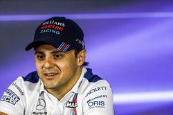 Felipe Massa, Williams, in the press conference