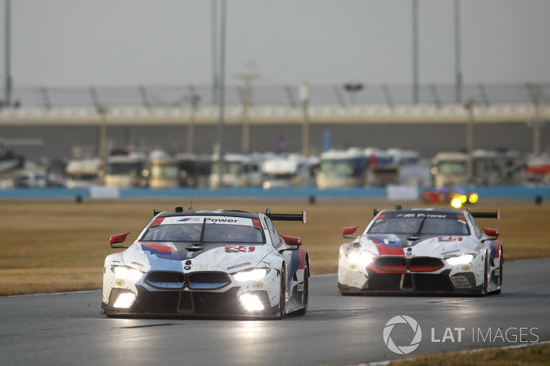 #24 BMW Team RLL BMW M8 GTE: Jesse Krohn, John Edwards, Nicky Catsburg, Augusto Farfus, #25 BMW Team RLL BMW M8 GTE: Alexander Sims, Connor De Phillippi, Bill Auberlen, Philipp Eng