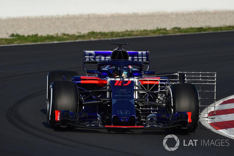 Pierre Gasly, Scuderia Toro Rosso STR13 avec des capteurs aéro