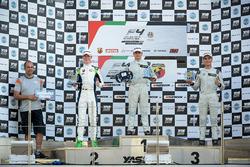 Podium: Race winner Caio Collet, SILBERPFEIL Energy Dubai, second place David Schumacher, Rasgaira Motorsports, third place Sami Taoufik, SILBERPFEIL Energy Dubai