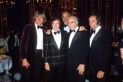 Monaco 1981, James Hunt, Jackie Stewart, Juan Manuel Fangio, Emerson Fittipaldi With Sean Connery