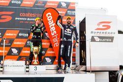 Podium: second place Shane van Gisbergen, Triple Eight Race Engineering Holden, third place Craig Lowndes, Triple Eight Race Engineering Holden