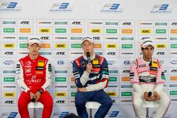Conferenza stampa, Guanyu Zhou, PREMA Theodore Racing Dallara F317 - Mercedes-Benz, Nikita Troitskiy, Carlin Dallara F317 - Volkswagen, Jehan Daruvala, Carlin Dallara F317 - Volkswagen