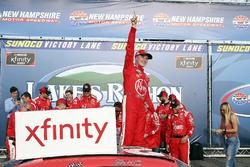 Christopher Bell, Joe Gibbs Racing, Toyota Camry Rheem celebrates in victory lane