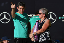 Carmen Lockhart, madre de Lewis Hamilton, Mercedes AMG F1
