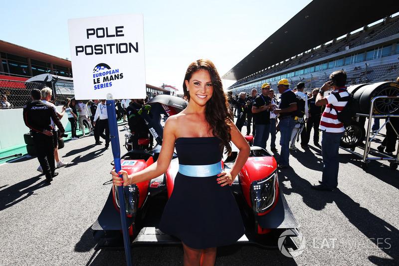 La grid girl del #23 Panis Barthez Competition, Ligier JSP217 - Gibson: Fabien Barthez, Timothé Buret, Nathanael Berthon
