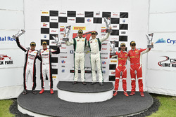 #96 Pfaff Motorsports Porsche 911 GT3 R: Scott Hargrove, Wolf Henzler, #24 Alegra Motorsports Porsche 911 GT3 R: Michael Christensen, Spencer Pumpelly, #61 R. Ferri Motorsport Ferrari 488 GT3: Toni Vilander, Miguel Molina