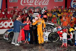 1. Kyle Busch, Joe Gibbs Racing, Toyota Camry M&M's Red White & Blue