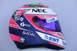 Le casque de Sergio Perez, Force India