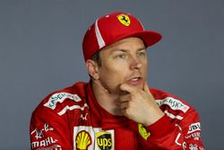 Kimi Raikkonen, Ferrari nella conferenza stampa