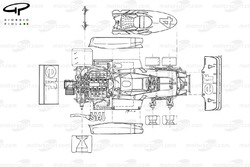 Tyrrell P34 1976 exploded top view