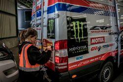 Monster Energy Honda Team destek araçları