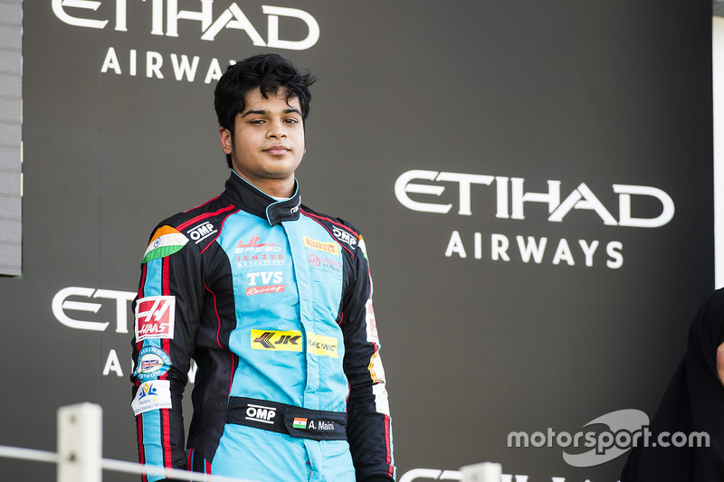 Podium: third place Arjun Maini, Jenzer Motorsport
