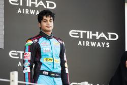 Podium: derde plaats Arjun Maini, Jenzer Motorsport