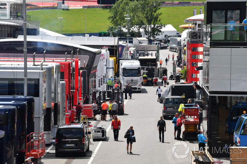 Il paddock del Red Bull Ring