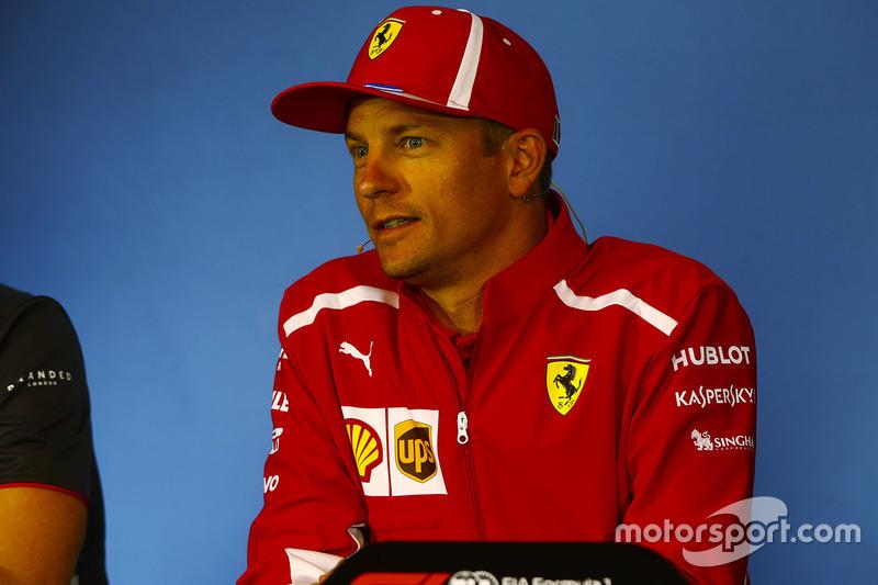 Kimi Raikkonen, Ferrari, lors de la conférence de presse