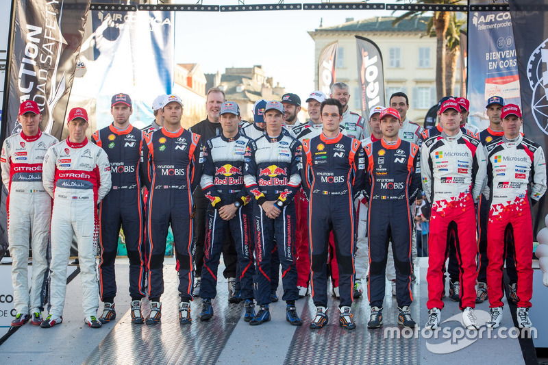 All drivers at the Rally de France