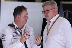 Ron Meadows, Sporting Director, Mercedes AMG, with Ross Brawn, Managing Director of Motorsports, FOM