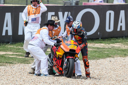 Crash of Pol Espargaro, Red Bull KTM Factory Racing