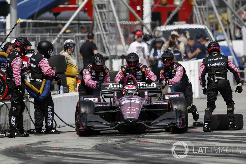 Jack Harvey, Meyer Shank Racing with Schmidt Peterson Honda, pitstop