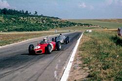 Giancarlo Baghetti, Ferrari 156, leads Dan Gurney, Porsche 718