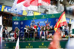 Podio: Sébastien Buemi, Kazuki Nakajima, Fernando Alonso, Toyota Gazoo Racing, Mike Conway, Kamui Kobayashi, Jose Maria Lopez, Mathias Beche, Gustavo Menezes, Thomas Laurent, Rebellion Racing