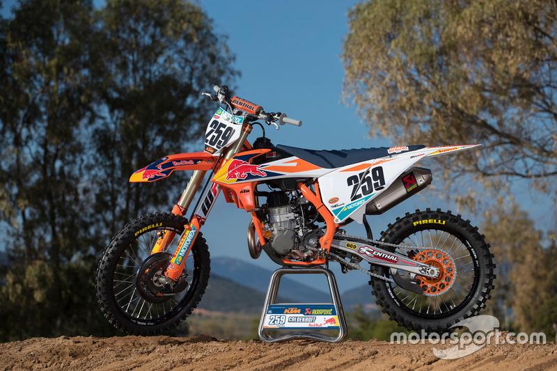 La moto di Glenn Coldenhoff, KTM Factory Racing