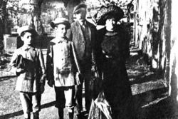 Enzo Ferrari (first left) with his family presumably from the era of the first communion, around 1906
