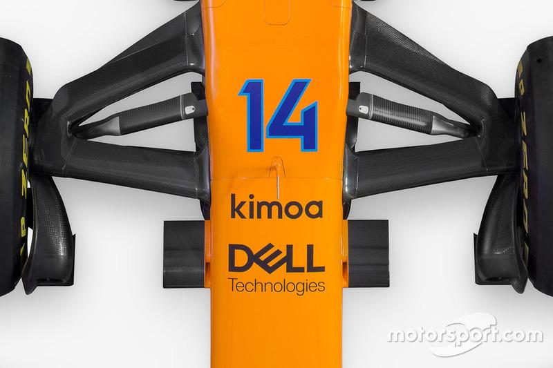 McLaren MCL33 detalle de la suspensión delantera