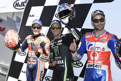 Polesitter Johann Zarco, Monster Yamaha Tech 3, second place Marc Marquez, Repsol Honda Team, third place Danilo Petrucci, Pramac Racing