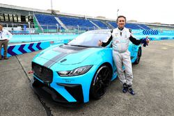 Alejandro Agag, CEO, Formula E, with the Jaguar iPace eTrophy car