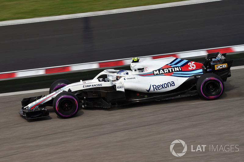 Sergey Sirotkin, Williams FW41 runs wide